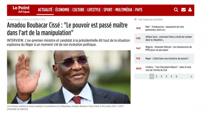 Interview Amadou Boubacar Cissé le point afrique